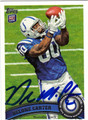 DELONE CARTER AUTOGRAPHED ROOKIE FOOTBALL CARD #30312P