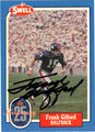 FRANK GIFFORD AUTOGRAPHED FOOTBALL CARD #30112J