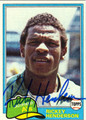 RICKEY HENDERSON AUTOGRAPHED VINTAGE BASEBALL CARD #30212M
