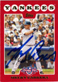 MELKY CABRERA AUTOGRAPHED BASEBALL CARD #30312S