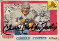 CHARLIE JUSTICE UNIVERSITY OF NORTH CAROLINA AUTOGRAPHED VINTAGE FOOTBALL CARD #30313E