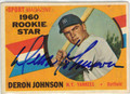 DERON JOHNSON NEW YORK YANKEES AUTOGRAPHED VINTAGE ROOKIE BASEBALL CARD #30313F