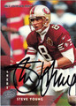 STEVE YOUNG AUTOGRAPHED FOOTBALL CARD #30412F