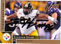 EVANDER HOOD AUTOGRAPHED ROOKIE FOOTBALL CARD #30412H