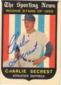 CHARLIE SECREST AUTOGRAPHED ROOKIE BASEBALL CARD #30412P