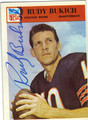 RUDY BUKICH CHICAGO BEARS AUTOGRAPHED VINTAGE FOOTBALL CARD #30513F