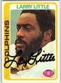 LARRY LITTLE AUTOGRAPHED VINTAGE FOOTBALL CARD #30612D