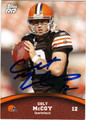 COLT McCOY AUTOGRAPHED ROOKIE FOOTBALL CARD #30612E