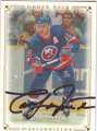 PAT LaFONTAINE NEW YORK ISLANDERS AUTOGRAPHED HOCKEY CARD #30713F