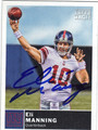 ELI MANNING NEW YORK GIANTS AUTOGRAPHED FOOTBALL CARD #30713H