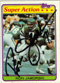 RON JAWORSKI PHILADELPHIA EAGLES AUTOGRAPHED VINTAGE FOOTBALL CARD #30813A