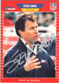 STEVE SABOL AUTOGRAPHED FOOTBALL CARD #30813J