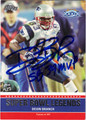DEION BRANCH NEW ENGLAND PATRIOTS AUTOGRAPHED FOOTBALL CARD #30912H