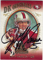 JEFF GARCIA SAN FRANCISCO 49ers AUTOGRAPHED & NUMBERED FOOTBALL CARD #30913B