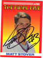 MATT STOVER NEW YORK GIANTS AUTOGRAPHED ROOKIE FOOTBALL CARD #30913i
