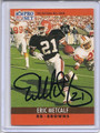 Eric Metcalf Autographed Football Card 3099