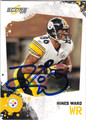 HINES WARD PITTSBURGH STEELERS AUTOGRAPHED FOOTBALL CARD #31013F