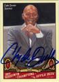 CLYDE DREXLER AUTOGRAPHED BASKETBALL CARD #31212D