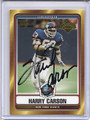 Harry Carson Autographed Football Card 3130