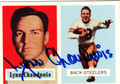 LYNN CHANDNOIS AUTOGRAPHED FOOTBALL CARD #31512M