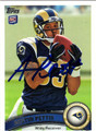AUSTIN PETTIS AUTOGRAPHED ROOKIE FOOTBALL CARD #31512Z