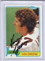 Ken Green Autographed Football Card 3171