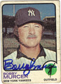 BOBBY MURCER AUTOGRAPHED VINTAGE BASEBALL CARD #31612F