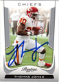 THOMAS JONES AUTOGRAPHED FOOTBALL CARD #31712G