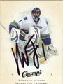 ROBERTO LUONGO VANCOUVER CANUCKS AUTOGRAPHED HOCKEY CARD #31712J