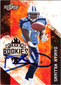 DAMIAN WILLIAMS AUTOGRAPHED ROOKIE FOOTBALL CARD #31712T