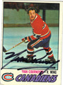 YVAN COURNOYER AUTOGRAPHED VINTAGE HOCKEY CARD #31812E