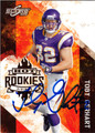 TOBY GERHART AUTOGRAPHED ROOKIE FOOTBALL CARD #31812G