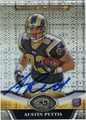 AUSTIN PETTIS AUTOGRAPHED ROOKIE FOOTBALL CARD #32012F