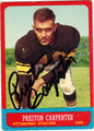 PRESTON CARPENTER AUTOGRAPHED VINTAGE FOOTBALL CARD #32012G