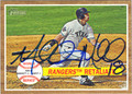 MITCH MORELAND TEXAS RANGERS AUTOGRAPHED ROOKIE BASEBALL CARD #31913F