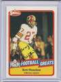 Ken Houston Autographed Football Card 3193