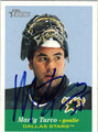MARTY TURCO AUTOGRAPHED HOCKEY CARD #32012K