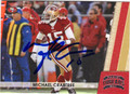 MICHAEL CRABTREE SAN FRANCISCO 49ers AUTOGRAPHED FOOTBALL CARD #32013C