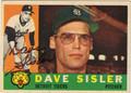 DAVE SISLER AUTOGRAPHED VINTAGE BASEBALL CARD #32112E