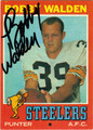 BOBBY WALDEN AUTOGRAPHED VINTAGE FOOTBALL CARD #32212D