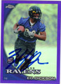 ED DICKSON AUTOGRAPHED & NUMBERED ROOKIE FOOTBALL CARD #32212E