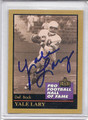 Yale Lary Autographed Football Card 3201