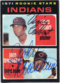 VINCE COLBERT & JOHN LOWENSTEIN DOUBLE AUTOGRAPHED VINTAGE BASEBALL CARD #32312B
