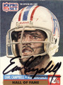 EARL CAMPBELL AUTOGRAPHED FOOTBALL CARD #32312F