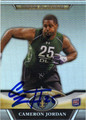 CAMERON JORDAN AUTOGRAPHED ROOKIE FOOTBALL CARD #32112P