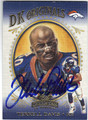 TERRELL DAVIS DENVER BRONCOS AUTOGRAPHED & NUMBERED FOOTBALL CARD #32113B