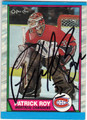PATRICK ROY MONTREAL CANADIENS AUTOGRAPHED HOCKEY CARD #32313A