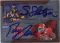 STEVE SLATON & RAY RICE DOUBLE AUTOGRAPHED ROOKIE FOOTBALL CARD #32312K