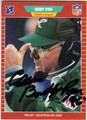 BUDDY RYAN PHILADELPHIA EAGLES AUTOGRAPHED FOOTBALL CARD #32413A