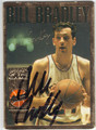 BILL BRADLEY NEW YORK KNICKS AUTOGRAPHED BASKETBALL CARD #32813D